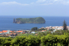 Azores / Açores - Vila Franca do Camp: Vila islet - Ilhéu da Vila - from the hills - photo by A.Dnieprowsky