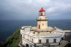 Azores / Açores - Nordeste: Ponta do Arnel lighthouse / farol - photo by A.Dnieprowsky