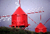 Azores / Açores - Faial: red windmills / moinhos vermelhos / moulin rouge - photo by F.Rigaud