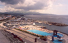 Azores - Ponta Delgada: Swimming pools and Marina / piscinas e marina (zona oriental da av. Infante Dom Henrique) - photo by M.Durruti