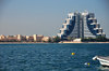 Manama, Bahrain: Elite Resort and Spa and Novotel Al Dana Resort - Sheikh Hamad Causeway - seen from Al Muharraq - photo by M.Torres