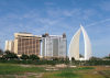 Bahrain - Bahrain - Manama: Sail Monument - Diplomat and the Holiday Inn hotels - photo by B.Cloutier