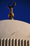 Manama, Bahrain: Yateem Mosque - dome and golden crescent - photo by M.Torres