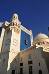 Manama, Bahrain: Yateem Mosque and Batelco Tower, near Bab Al-Bahrain - Government avenue, Al Muthanna avenue - Central Business District - photo by M.Torres