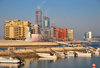 Manama, Bahrain: Reef Island - One Bahrain development - seen from the fishing harbour - Harbour house on the left - photo by M.Torres