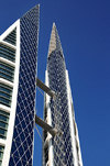 Manama, Bahrain: Bahrain World Trade Center - BWTC - built by architectural firm Atkins - photo by M.Torres