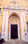 Menorca: Maó / Mahón - the Cathedral's entrance / Catedral (photo by Miguel Torres)