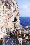 Menorca: Coves d'en Xoroi - Cala'n Porter - bar over the Mediterranean (photo by Tony Purbrook)