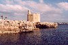 Menorca: Ciutadella de Menorca - tower at the harbour entrance (photo by Miguel Torres)
