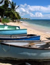 Barbados - Six Men's Bay - St Peter Parish: boats on the beach - photo by P.Baldwin