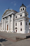 Belarus - Mogilev - Catholic church of St. Stanislaus - Saint Stanislav Cathedral - Western-European Baroque style - famous for its Transfiguration fresco - formerly Assumption of the Virgin church - photo by A.Dnieprowsky