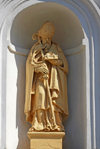 Nesvizh / Nyasvizh, Minsk Voblast, Belarus: Saint Peter - niche at the Corpus Christi Catholic church - photo by A.Dnieprowsky