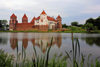 Mir, Karelicy raion, Hrodna Voblast, Belarus: Mir Castle and the pond - built by duke Ilinich and later owned by the Radziwils - UNESCO World Heritage Site - photo by A.Dnieprowsky
