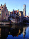Belgium - Brugge / Bruges (Flanders / Vlaanderen - West-Vlaanderen province): reflections on a canal - Unesco world heritage site (photo by M.Bergsma)
