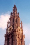Belgium - Antwerpen / Anvers (Flanders / Vlaanderen): Gothic belfry at the Cathedral of Our Lady / Onze Lieve Vrouwekathedraal - Belfries of Flanders and Wallonia - Unesco world heritage site (photo by M.Torres)
