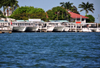 Belize City, Belize: idle tour boats - Belize City Tourism Village - photo by M.Torres