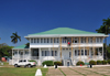 Belize City, Belize: Caribbean façade of the Government House - House of Culture - now a museum, formerly the residence of the governor-general - clapboard structure - photo by M.Torres