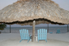 Belize - San Pedro - Ambergris Caye, Belize district: beach umbrella for two - photo by C.Palacio