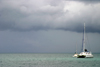Belize - Placencia peninsula, Stann Creek District: catamaran at Sea - Caribbean sea - mar das caraibas - photo by C.Palacio