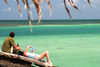 Belize - Belize District: on vacation - couple on the beach - coral island in the Caribbean Sea - photo by C.Palacio