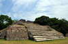 Altun Ha Maya city, Belize District, Belize: Plaza A - stairway and pyramid A-3 - Mayan temple - photo by M.Torres