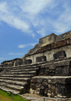 Altun Ha Maya city, Belize District, Belize: Temple of the Masonry Altars - the city was a major Mayan trading post linking the Caribbean shore with the interior - photo by M.Torres