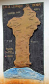Porto-Novo / Hogbonou / Adjac�, Benin: ethnic map of Benin - carte ethnique du Benin - photo by G.Frysinger