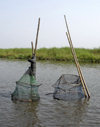 Lake Nokou�, Benin: fish traps - photo by G.Frysinger