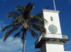 Bermuda - St. George: St Peter's Anglican church - Church of England - clock tower - steeple - photo by G.Frysinger