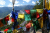 Bhutan - Paro dzongkhag - Prayer flags and mountains, on the way to Taktshang Goemba - photo by A.Ferrari
