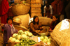 Bhutan - Thimphu - the market - women in traditional clothes - selling vegetables - photo by A.Ferrari