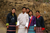 Bhutan - smiling group of Bhutanese people, on their way to Cheri Goemba - photo by A.Ferrari
