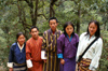 Bhutan - group of Bhutanese people, on their way to Cheri Goemba - photo by A.Ferrari