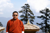 Bhutan - cool Bhutanese guide, in Dochu La pass - photo by A.Ferrari