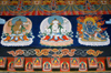 Bhutan - Buddhist figures painted in Punakha Dzong - photo by A.Ferrari