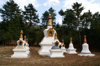 Bhutan - Bumthang District - stupas, near Membartsho - photo by A.Ferrari