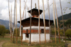 Bhutan - Kizum - chorten with prayer flags - photo by A.Ferrari
