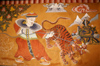 Bhutan - tiger painting - Ugyen Chholing palace - photo by A.Ferrari