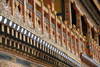 Bhutan, Paro: Detail of Paro Dzong interior courtyard - photo by J.Pemberton