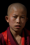 Bhutan, Paro:Young monk in Paro Dzong - photo by J.Pemberton