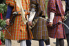 Bhutan, Thimphu: Traditionally dressed archers with modern bows - photo by J.Pemberton