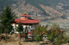 Bhutan - Paro: Bhutan's national museum - seen from the hill above - photo by A.Ferrari