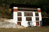 Bhutan - Paro: white house, just outside Paro Dzong - photo by A.Ferrari