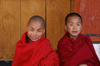 Bhutan - Paro: young smiling monks, inside Paro Dzong - photo by A.Ferrari
