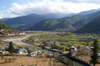 Bhutan - Paro: view over the Paro Chhu (river) from the Paro Dzong - photo by A.Ferrari