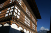 Bhutan - Paro: Gangtey palace - timber frame walls - photo by A.Ferrari