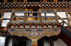 Bhutan - Paro: paintings - stairs - landing, inside the Gangtey palace - photo by A.Ferrari
