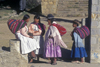 Isla del Sol, Lake Titicaca, Manco Kapac Province, La Paz Department, Bolivia: Aymara women visit in their village of Yumani - photo by C.Lovell