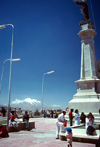 La Paz, Bolivia: Mt. Illimani - people relax and enjoy the view - photo by J.Fekete