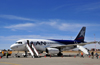 El Alto, La Paz department, Bolivia: La Paz El Alto International Airport - LPB - LAN Airbus A319-132 prepares to leave for Iquique - CC-COZ - cn 2304 - photo by M.Torres